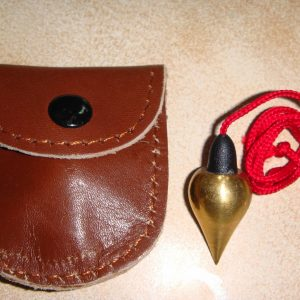 Brass Pendulum with Leather Cover